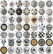porcelain knobs for kitchen cabinets vintage ceramic knobs ornamental door knobs with various black
