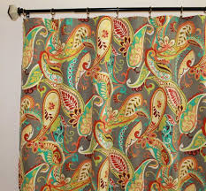Paisley Curtains Pair Of 50 Wide Covington Whimsy Paisley Curtains In Mardi Gras