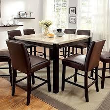 stone top dining table amazon com