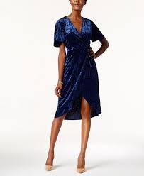 monteau petite velvet faux wrap dress dresses petites macy u0027s