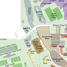 tcu parking map tcu maps