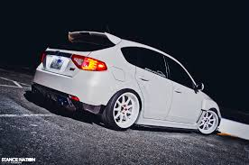 subaru wrx hatch white in white stancenation form u003e function