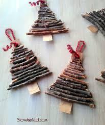 rustic twig and cardboard tree ornaments stowandtellu