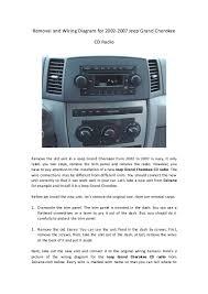 2007 jeep grand cherokee stereo wiring diagram tamahuproject org