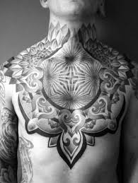 50 scintillating chest tattoos for