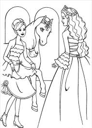 barbie horse coloring page coloring home