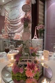 eiffel tower table decorations flower bouquet eiffel tower wedding table decorations black pink