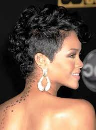 short layered haircuts for naturally curly hair rihanna short curly mohawk hairstyles fashion for curly mohawk
