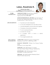 Sample Resume Objectives For Training by Caregiver Resume Samples Berathen Com