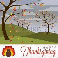 hojas de otoño dibujo tarjeta de la escena de acción de gracias