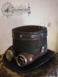 steampunk halloween steam aristokrat top hat and goggles https www