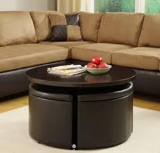 black round modern wood ottoman storage coffee table ikea design