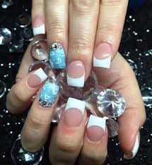 5 french nail designs with diamonds french manicure pictures