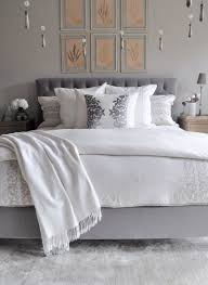 master bedroom refresh and restyle decor gold designs bedroom bed with tufted headboard linen bedding gray and white