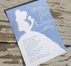 Create Your Own Invitation Card Beauty And The Beast Wedding Invitations Kawaiitheo Com