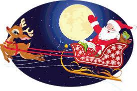 santa and reindeer clip art u0026 look at santa and reindeer clip art