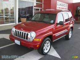 red jeep liberty 2007 jeep liberty limited 4x4 in inferno red crystal pearl