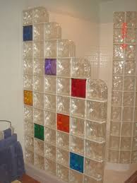glass block designs for bathrooms astonishing image of bathroom decoration using glass block shower