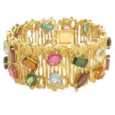 multi stone bracelet images Gold and multi colored stone bracelet by h stern kimberly jpg