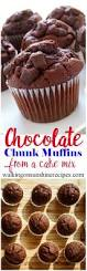 how to make the best chocolate chunk muffins from a cake mix