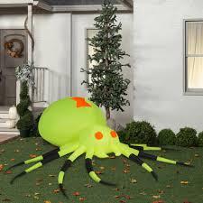 gemmy airblown inflatable 3 5 u0027 x 11 5 u0027 giant neon green spider