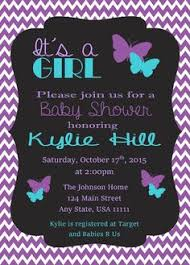 purple baby shower ideas butterfly baby shower invitation purple and teal digital file