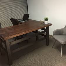L Shape Office Desks Buy A Crafted L Shape Industrial Office Desk Made