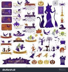 Happy Halloween Icons Set Halloween Icons Banners On White Stock Vector 323863970