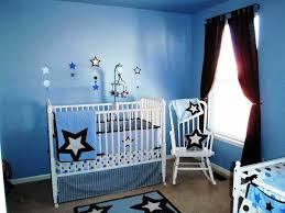 Brown And Blue Bedding by Baby Boy Room With Blue Walls And White Furniture Choosing Baby