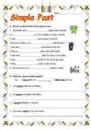 simple past tense worksheet by rennayf