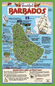 Map Of Southern Caribbean by Tourist Map Of Barbados With Attractions