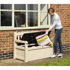 plastic garden bench box with storage bench decoration