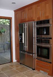 pantry refridgerator wall oven on one wall wall cabinet with