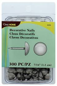 dritz decorative nails 7 16 in round smooth silver 300 pc