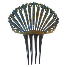 vintage hair combs edwardian celluloid rhinestone vintage hair comb from rarefinds on