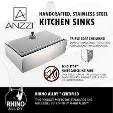anzzi elysian farmhouse stainless steel 32 in 0 hole kitchen sink