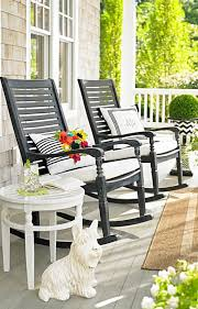Black Outdoor Furniture by I Love The Black I Can Spraypaint My Rocker Black Neat Porch