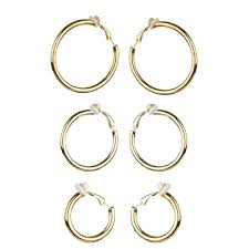 clip on earrings s gift set charline s clip on hoop earrings goldtone small