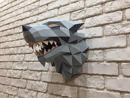 Winter House Decoration Game - game of thrones winter is coming paper wolf direwolf wolf