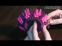 3d Origami Flower Vase Tutorial 3d Origami Paper Flower Vase With Their Hands Master Class