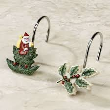 Decorative Christmas Tree Hooks by Spode Christmas Tree Shower Curtain