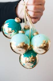 diy gold leaf painted ornaments by sweetest occasion and other