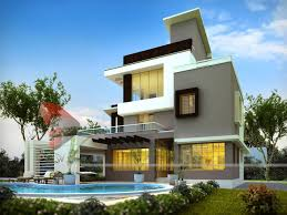 Contemporary Home Exterior by Best House 3d Interior Exterior Design Rendering Modern Architect