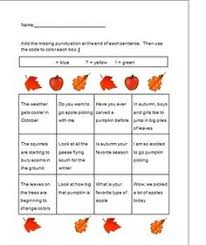 end of sentence punctuation worksheets even different themes and