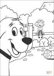 clifford coloring pages clifford wants to play with emily coloring page free printable