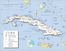 Map Of The Caribbean Islands by Administrative Map Of Cuba Nations Online Project