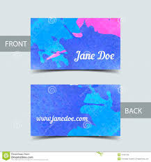 business card template for watrcolor illustrator stock vector
