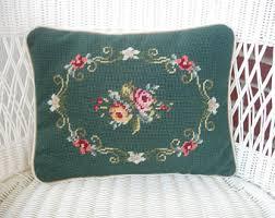 needlepoint pillow etsy