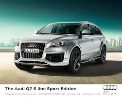 Audi Q7 Gold - hondayes a new show of strength for audi q7 s line edition models