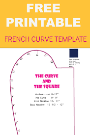 sewing letter templates french curve printable template curves and free printable french curve printable template